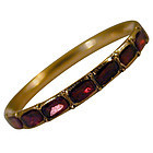 Antique Garnet and Gold Eternity Ring
