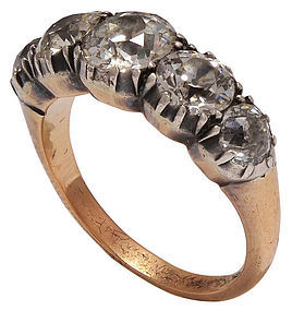 GEORGIAN Five Stone Diamond Ring