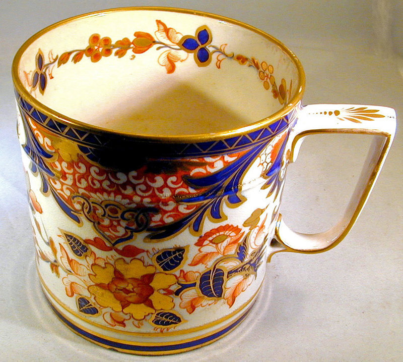"Antique Derby Porcelain ""King"" Pattern Porter Mug"