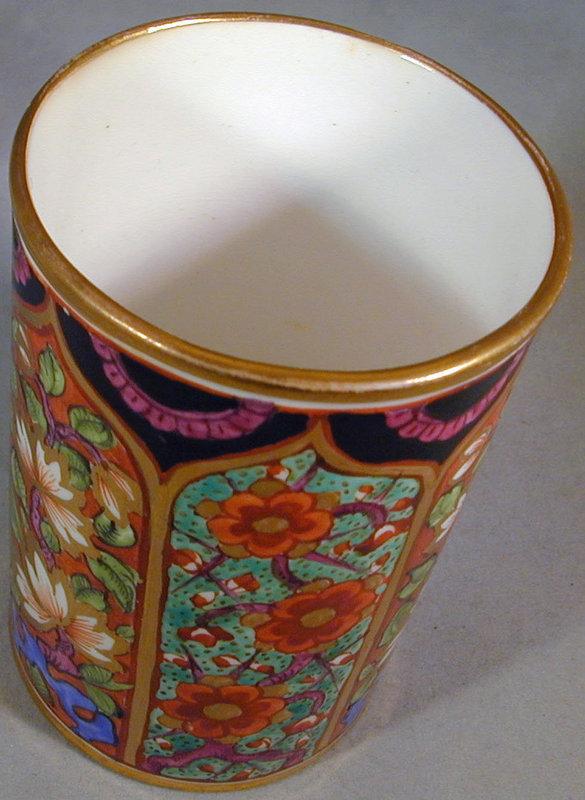 Antique Derby Porcelain spill vase