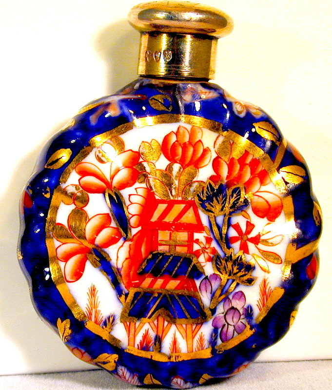 "Antique ""Imari"" Pattern Scent Bottle"