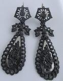 Antique Pair of Berlin Iron Earrings, 1810