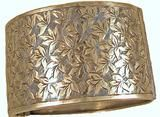 Antique Victorian Sterling Silver Engraved Cuff Bracelet