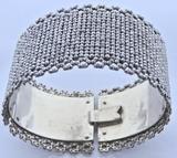 Antique Victorian Cut Steel Cuff Bracelet, c1850