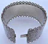 Antique Victorian Cut Steel Cuff Bracelet, c1850