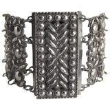 Antique Georgian Cut Steel Link Bracelet, c1800