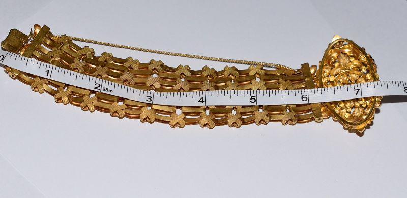 Antique Georgian 18K Gold Cuff Bracelet, c1800