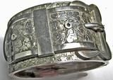 Antique Victorian Sterling Cuff or Bangle Bracelet