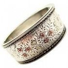 Antique Victorian Silver and Gold Cuff Bracelet