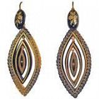Antique Pique Earrings, circa 1880