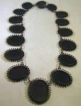 Antique Berlin Iron Cameo Necklace, c1815