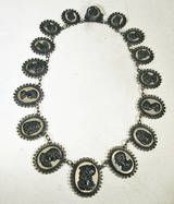 Antique Berlin Iron Cameo Necklace, c1815