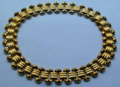 Antique Gilt Metal Collar