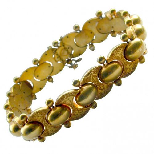 Antique Gilt Metal Collar