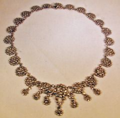 Antique Cut Steel Necklace