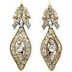 Portuguese Rock Crystal drop earrings set in silver and 18K gold