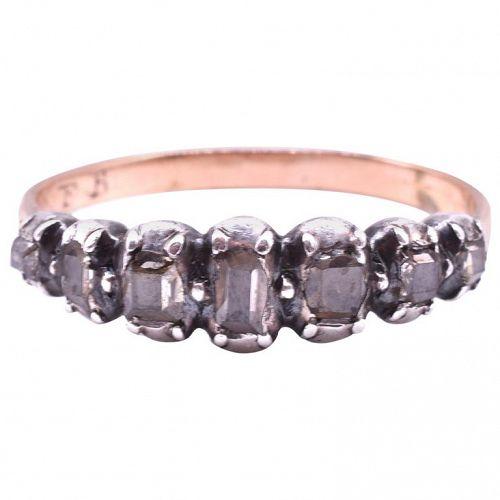 C1790 18K ½ Hoop Diamond Eternity Band Ring