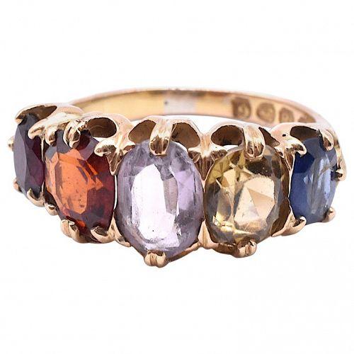 HM Chester 1890 18K  Harlequin 5 stone Ring