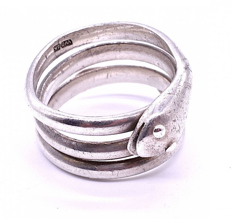 C1880 Sterling Silver Snake Ring