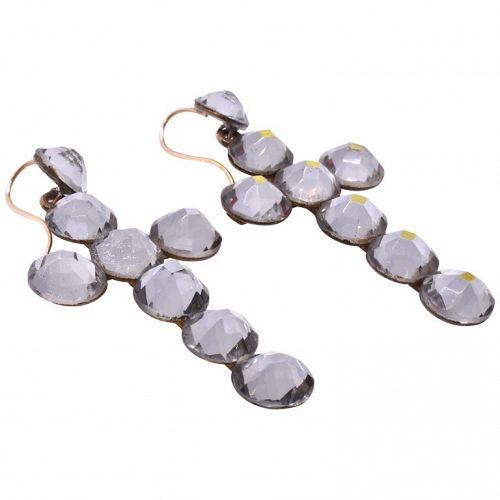 C1850 CROSS, VAUXHALL, CLEAR earrings