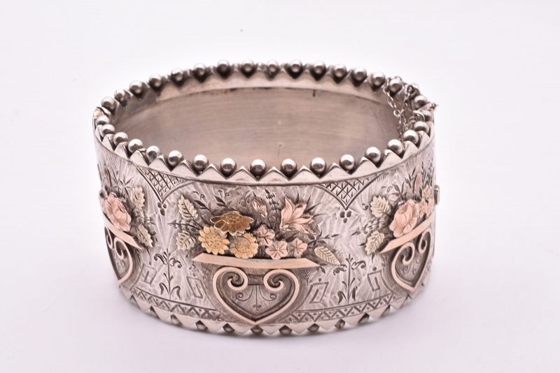 C1880 silver & gold cuff aestheticism