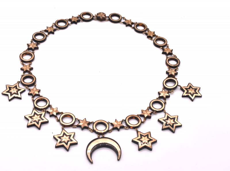 C1870  MOON & STARS pique Necklace