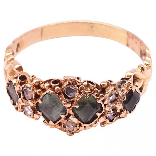 C1830 15ct  Rose diamond peridot