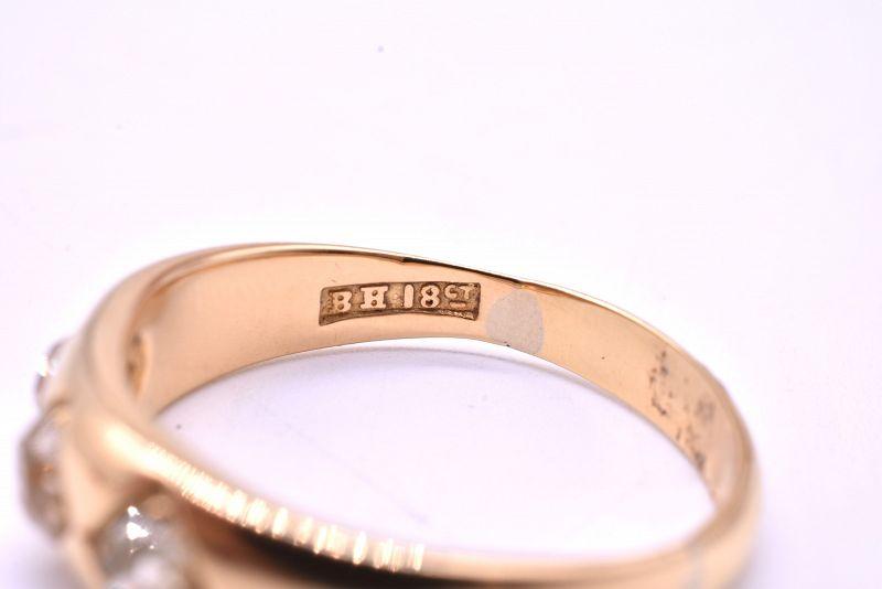 C1900 18k Diamond Gypsy ring