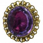 C1800 AMETHYST lge cannetille ring