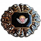 "Brooch, C1820 ENAMEL 18K  ""NIGHT OF SKY"" ANGEL"