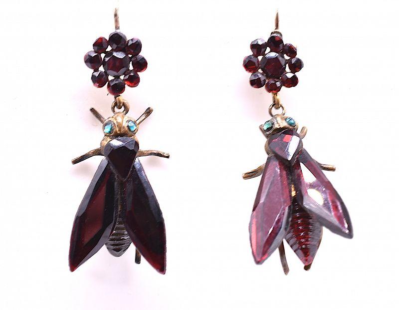 Vauxhall Glass Fly Earrings