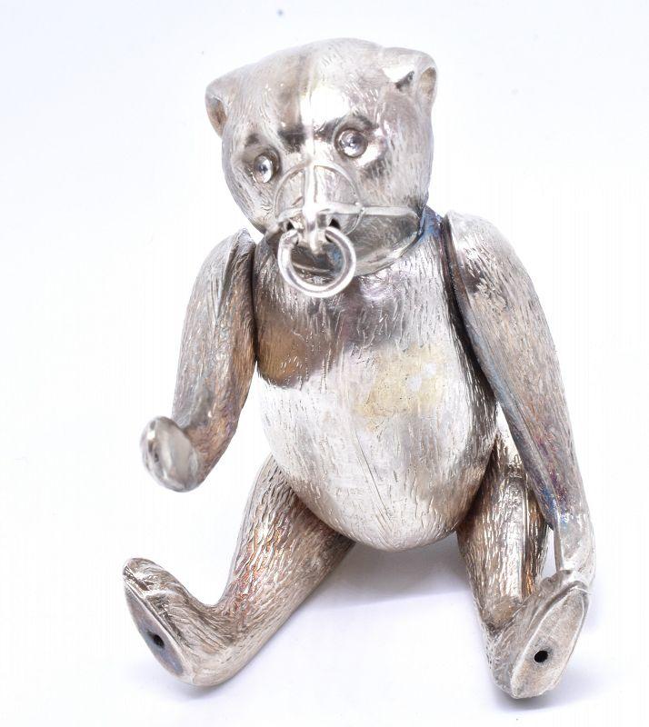 HM 1909 Silver Collectible  Miniature Bear