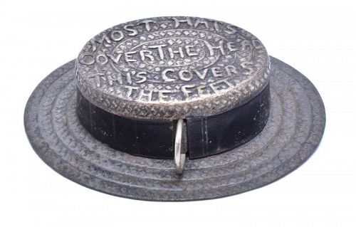 C.1800 Straw Hat Novelty Tape Measure