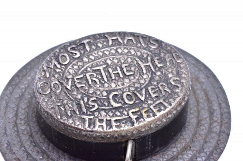 C.1800 Straw Hat Novelty Tape Measure