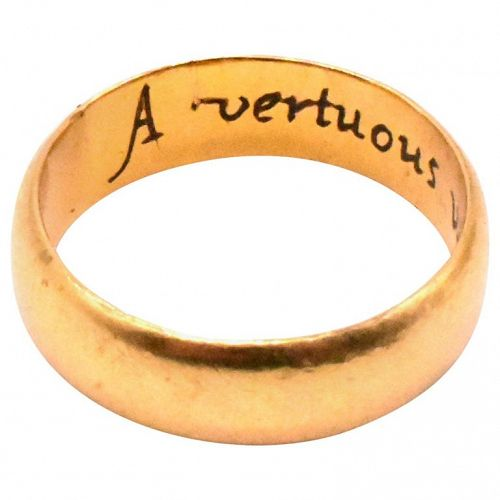 18k Engraved Poesy Ring