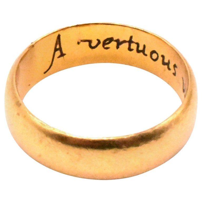 18k Engraved Poesy Ring