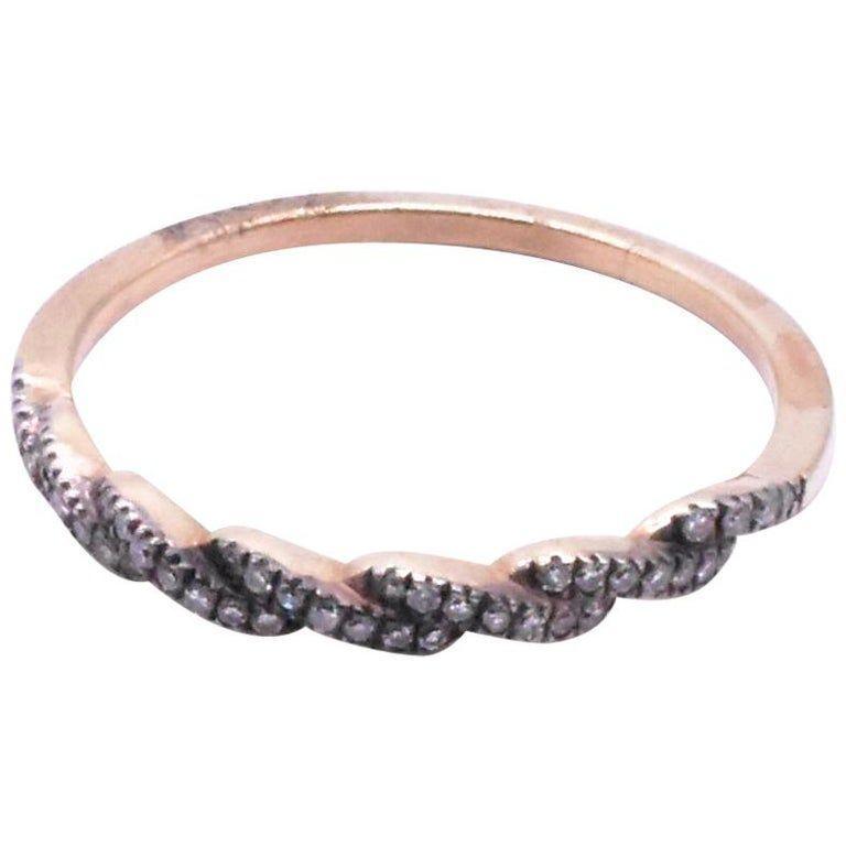 C1920 15K ½ Hoop Diamond Eternity Band Ring