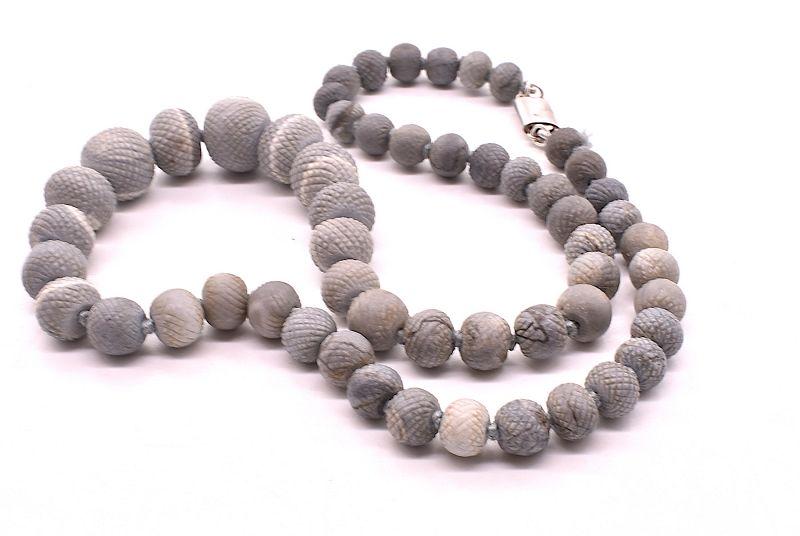 Antique Lava Necklace C.1880
