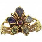 Georgian Gold Pansy Ring With Hands Offering Gift, C1820