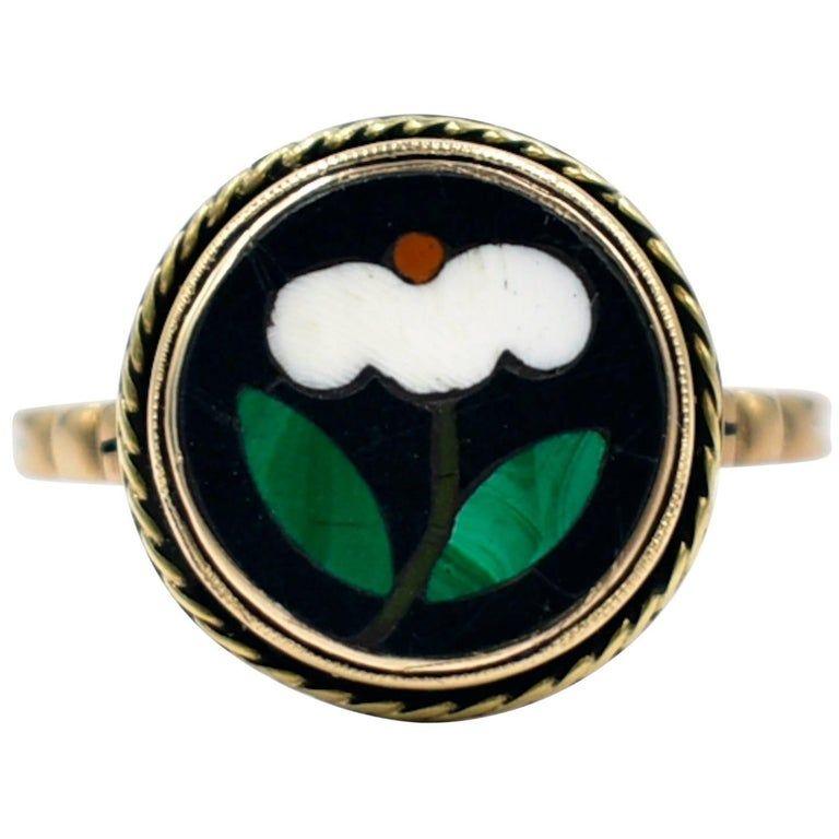Italian Pietra Dura Ring