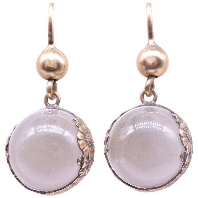 Pools of Light Silver Gilt Rock Crystal Earrings