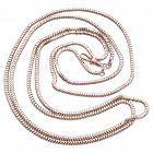 "C1890 9 Karat Gold Slinky LongGuard Snake Chain Necklace, 44"""