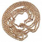 "C1890 15 Karat Gold Fancy Box Link Victorian Long Guard Chain, 60"""