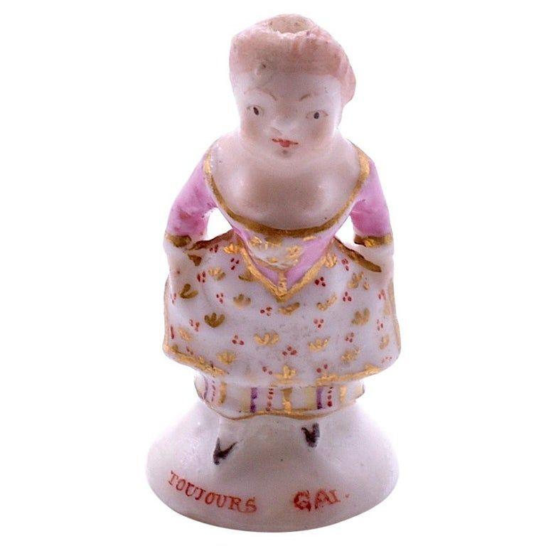 "C1745 ""Lady Dancing"", Chelsea Factory Porcelain Seal,"
