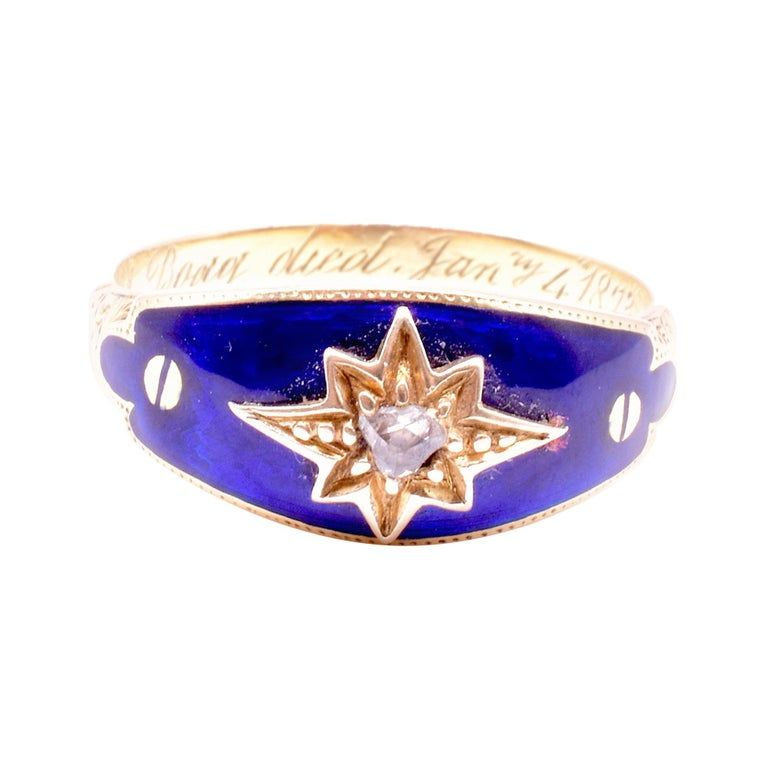 "Celestial Bague au Firmament ""Ring of Heavens"" Guilloche Enamel Ring,"