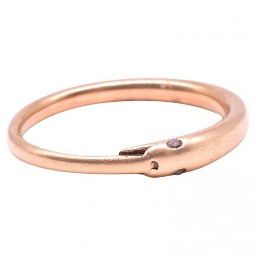 C1800 18K Slender Ouroboros Snake Ring