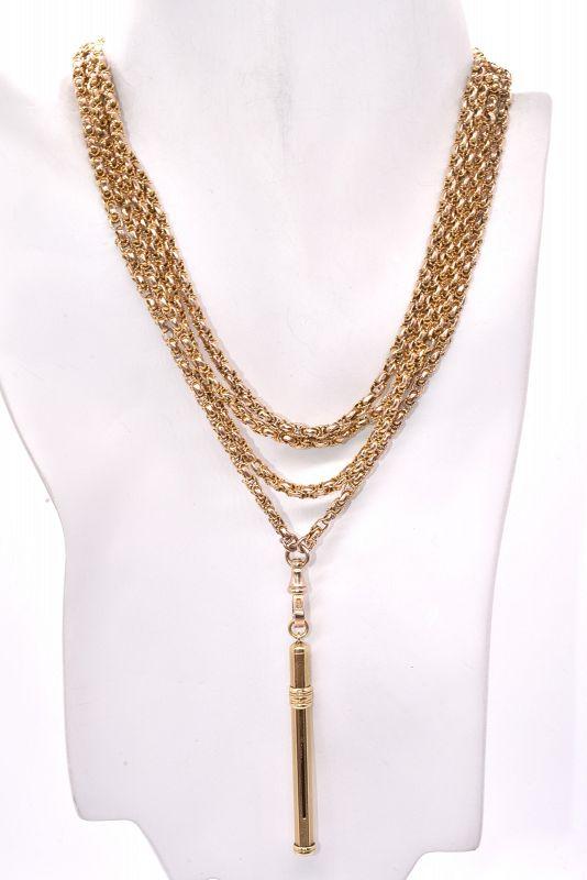 C1930 9 Karat Gold Toothpick Pendant