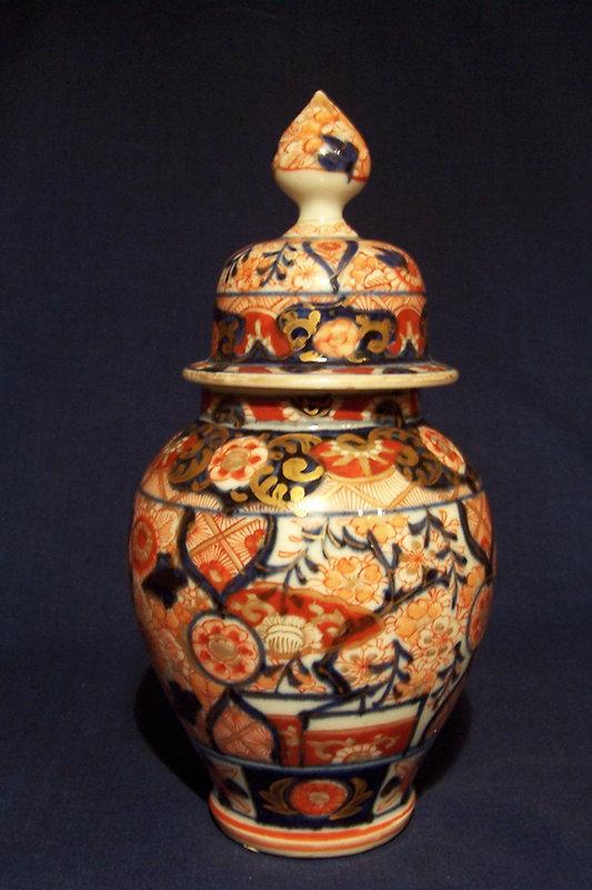 19th Century Japanese Imari Porcelain Covered Vase