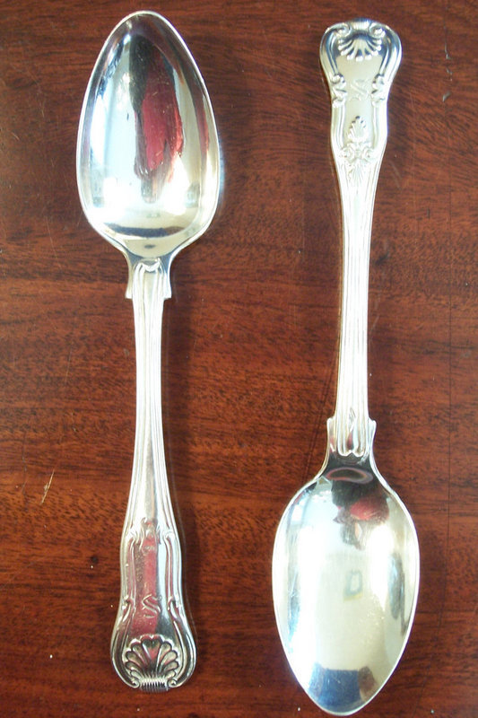 Two Fine Silver King's Pattern Spoons