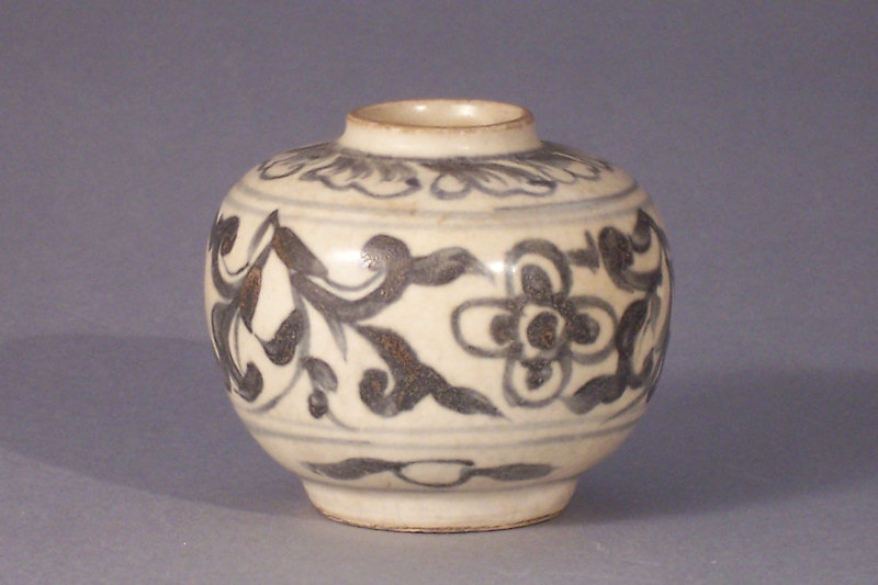 15th-16th C. Annamese Blue and White Jarlet, 7.6cm dia